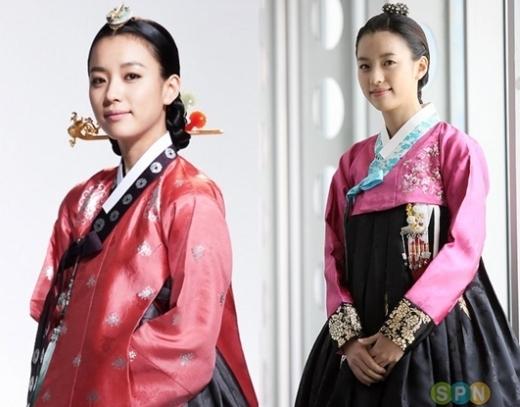 """Không hổ danh là """"nữ hoàng cổ trang"""", Han Hyo Joo luôn toát lên vẻ đẹp dịu dàng trong trang phục truyền thống của Hàn Quốc."""