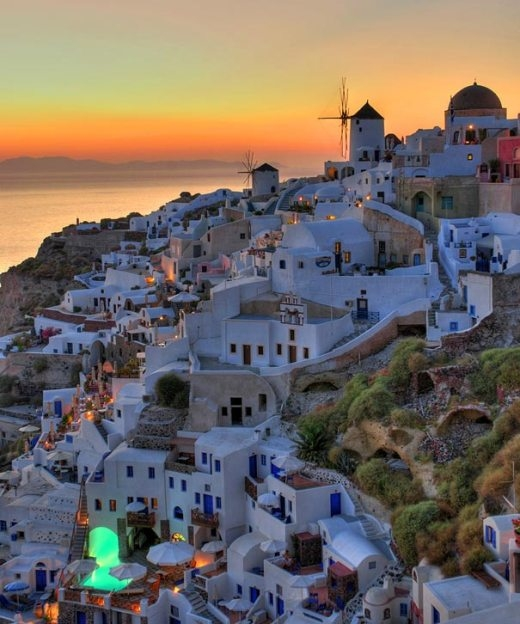 Đảo Santorini ở Hi Lạp