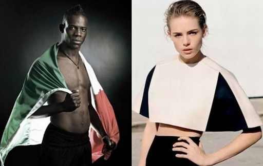Chia tay Fanny Neguesha, Balotelli dính tin đồn cặp kè hàng loạt chân dài, trong đó có siêu mẫu 18 tuổi người Anh Rosie Tapner.