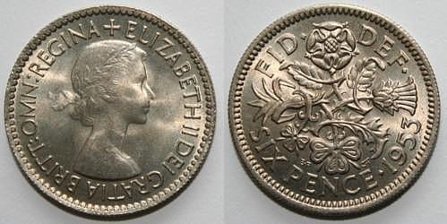Đồng 6 xu của Anh với những họa tiết chạm khắc hết sức công phu và độc đáo. Ảnh: Britmovie.co.uk