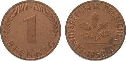 Đồng một pfennig là một trong những biểu tượng may mắn của người Đức. Ảnh: ma-shops.com