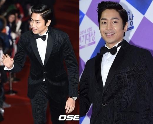 Eric (Shinhwa) đốn ngã biết bao trái tim fan nữ với bộ comple hoa văn nhưng không quá màu mè.