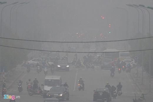 Khu vực Trung Yên, quận Cầu Giấy cùng thời điểm.