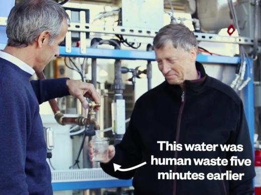 Li nước này được tạo ra chỉ 5 phút sau khi xử lí chất thải.