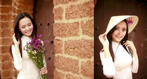 Cô dâu tươi tắn trong tà áo dài truyền thống