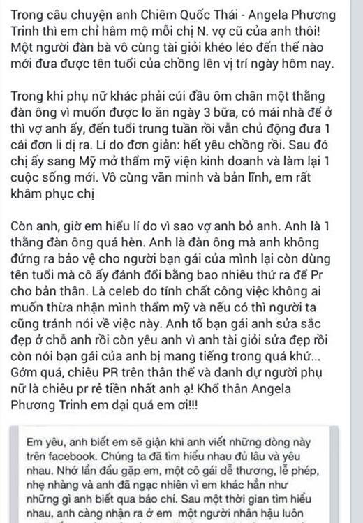 Rất nhiều bình luận của cư dân mạng xoay quanh câu chuyện giữa bác sĩ Chiêm Quốc Thái với Angela Phương Trinh và vợ cũ. - Tin sao Viet - Tin tuc sao Viet - Scandal sao Viet - Tin tuc cua Sao - Tin cua Sao