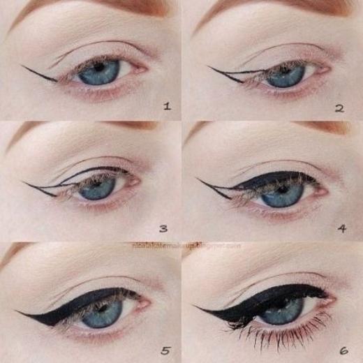 Kẻ eyeliner sắc nét dễ dàng hơn hẳn với vài bước cơ bản.