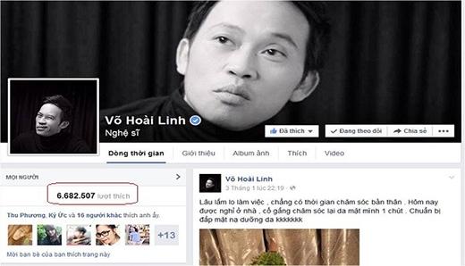 Trang Facebook của Hoài Linh có gần 7 triệu lượt bấm yêu thích. - Tin sao Viet - Tin tuc sao Viet - Scandal sao Viet - Tin tuc cua Sao - Tin cua Sao