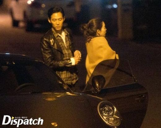 Một số hình ảnh hẹn hò của Lee Jung Jae bị Dispatch đăng tải vào ngày 1/1
