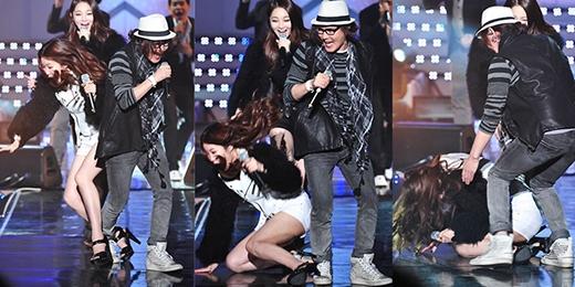 Lee Haeri (Davichi) ngượng chín mặt khi gặp phải sự cố này.