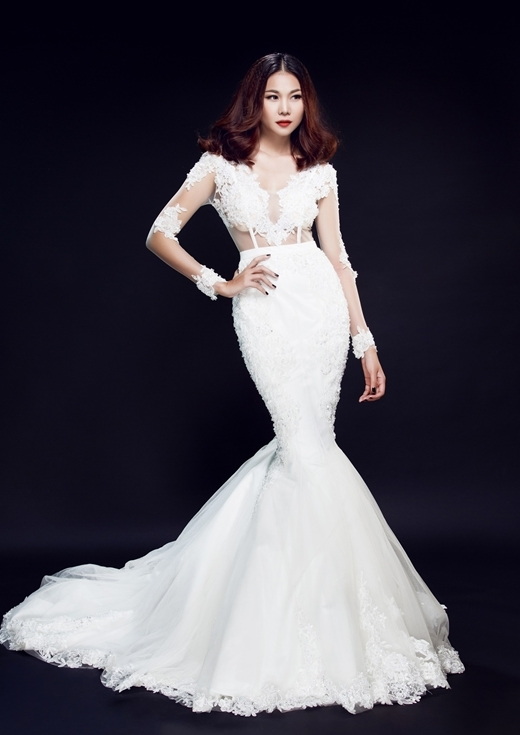 Mê đắm trước vẻ đẹp của cô dâu Thanh Hằng