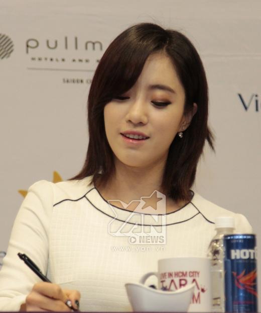 Eun Jung cho biết cô rất thích tiếng Việt và rất quyết tâm tìm hiểu, hy vọng có cơ hội làm Fan Meeting tại Việt Nam lần nữa để trao đổi với fans Việt bằng Tiếng Việt