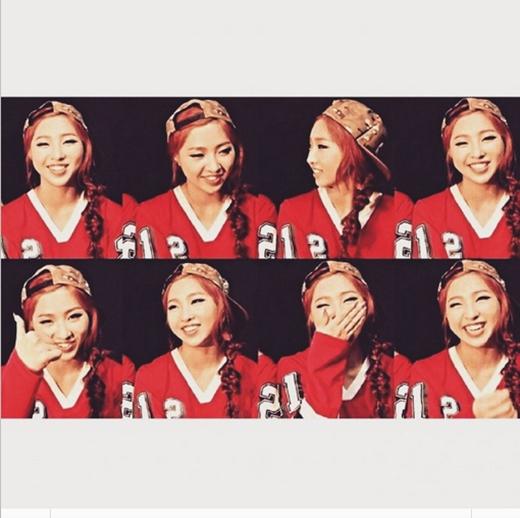 Minzy chia sẻ 8 hình ảnh khác nhau với cùng một tâm trạng vui tươi.