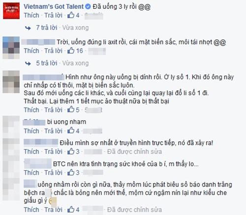 Thí sinh Vietnam's Got Talent đi cấp cứu vì uống nhầm axit