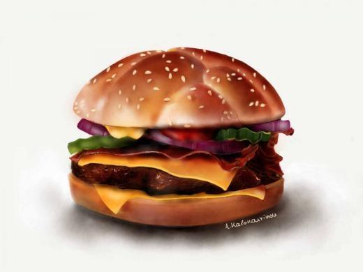 Bức vẽ hamburger của Angela Kalokairinou
