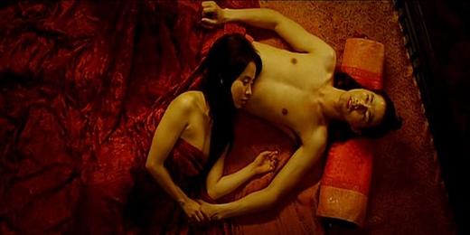 Song Ji Hyo và Jo In Sung trong phim A Frozen Flower
