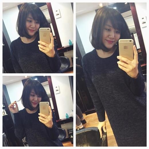 Văn Mai Hương trông thật xinh đẹp, dịu dàng với mái tóc ngắn. Dù là để tóc ngắn hay tóc dài nhìnVăn Mai Hương cũng thật xinh đẹp phải không nào?