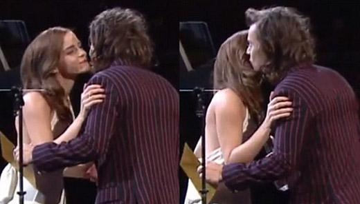 """Emma đã đỏ mặt khi Harry thì thầm vào tai cô 3 từ """"He for She"""", """"và điều đó thật sự tuyệt vời"""" – Emma chia sẻ."""