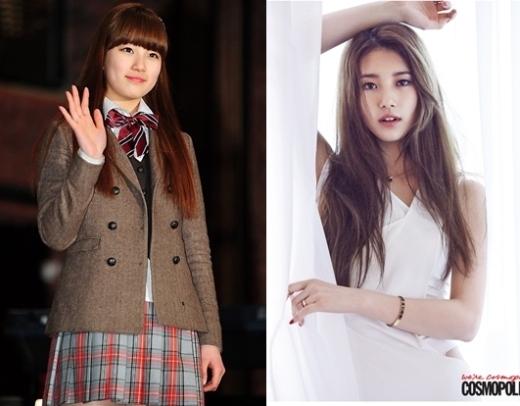 """So vớiGo Hye MitrongDream High, hình ảnh long lanh, xinh đẹp như """"nữ thần"""" hiện nay chính là kêt quả của quá trình nỗ lực giảm cân không ngừng nghỉ củaSuzy."""
