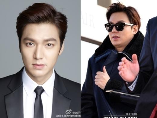 """Dạo gần đây,Lee Min Homập lên trông thấy với cằm ngấn mỡ và mất đi đường nét khuôn mặt, khác hẳn so với thời """"người thừa kế"""" điển trai, phong độ."""