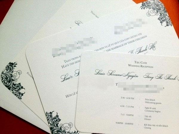 Thiệp cưới theo phong cách hiện đại của vợ chồng Tăng Thanh Hà - Louis Nguyễn. - Tin sao Viet - Tin tuc sao Viet - Scandal sao Viet - Tin tuc cua Sao - Tin cua Sao
