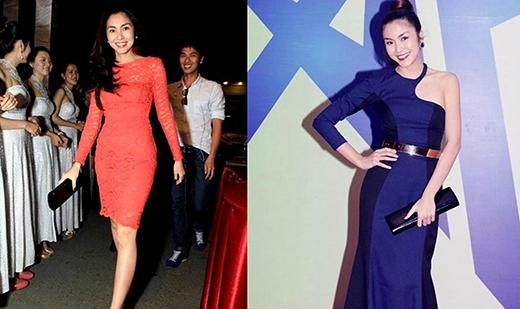 Chiếc clutch đen đã được Hà Tăng sử dụng tại rất nhiều sự kiện lớn nhỏ mà cô nàng tham gia do nó toát lên vẻ thanh lịch phù hợp với gout thời trang của mình.