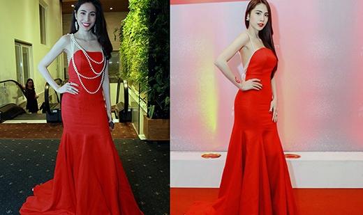 Chiếc đầm đỏ tôn vinh vóc dáng chuẩn đã được Thủy Tiên mặc cách nhau 3 năm.