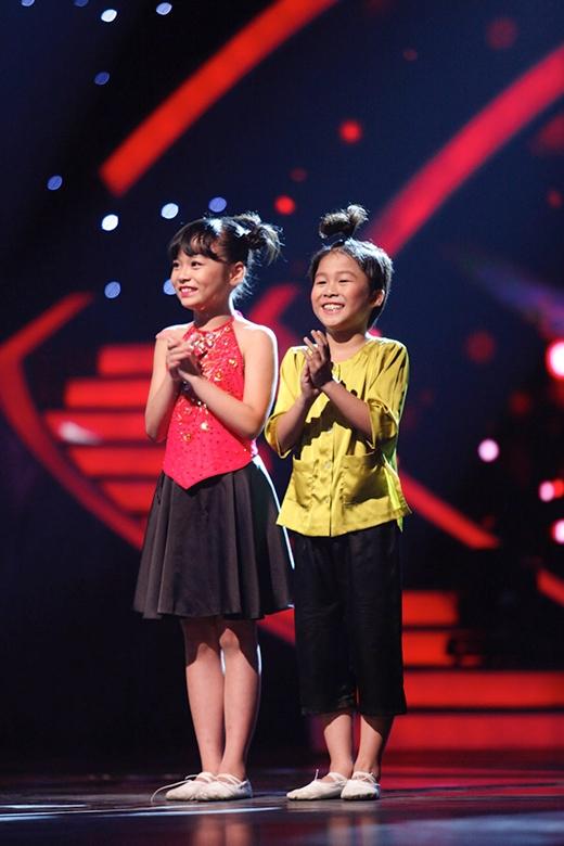 Hai bé Thục Nhi và Đức Huy được bình chọn nhiều nhất.