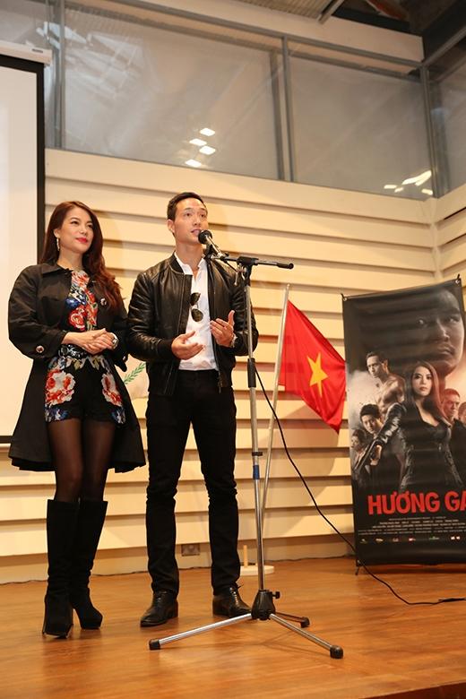 Tại đây, Trương Ngọc Ánh và Kim Lý đã giới thiệu bộ phim Hương Ga đến với kiều bào. - Tin sao Viet - Tin tuc sao Viet - Scandal sao Viet - Tin tuc cua Sao - Tin cua Sao