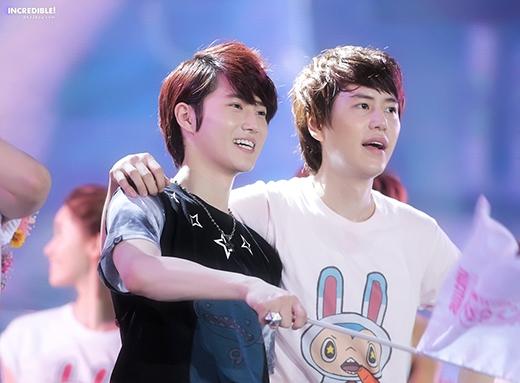 Suho và Kyuhyun luôn thân thiết với nhau
