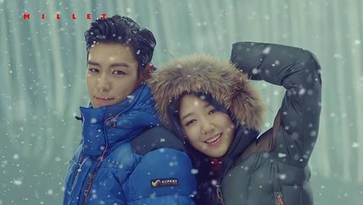 T.O.P và Park Shin Hye là cặp đôi quảng cáo hot trong năm 2014