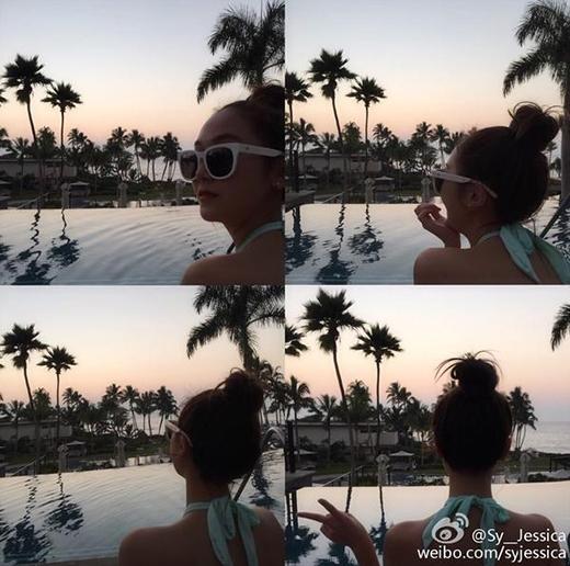 Hình ảnh Jessica đăng tải trên Weibo thu hút nhiều sự tò mò của fan