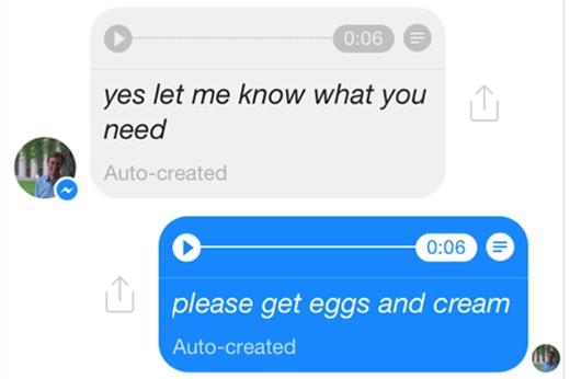 Người dùng vừa có thể nghe vừa có thể đọc tin nhắn bằng giọng nói.