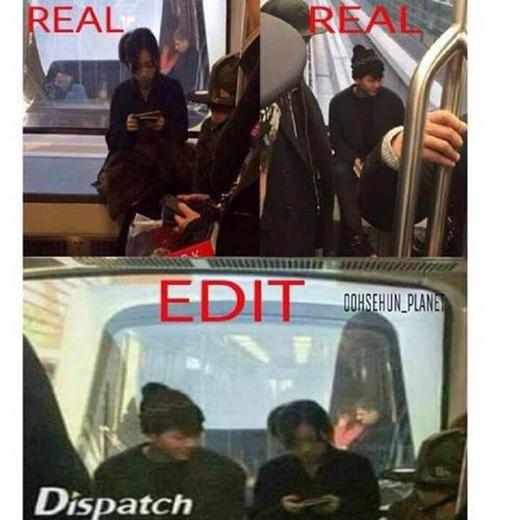 Hình ảnh cắt ghép và sử dụng logo giả của Dispatch được cư dân mạng lan truyền chóng mặt