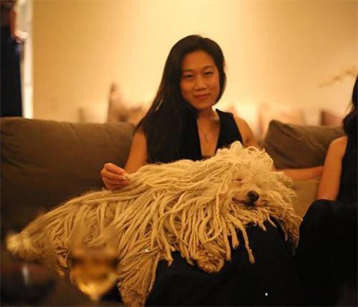Thời khắc giao thừa 2015 ấm cúng của thú cưng và gia đình.