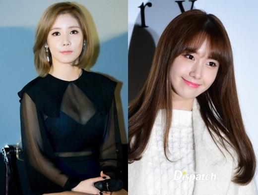 Nếu không biết, có lẽ mọi người sẽ nghĩ Hana (Secret) là chị gái của Yoona (SNSD) mất, mặc dù cùngsinh năm 1990 nhưng cả hai lại mang một nét thu hút khác nhau dễ gây nhầm lẫn về số tuổi.