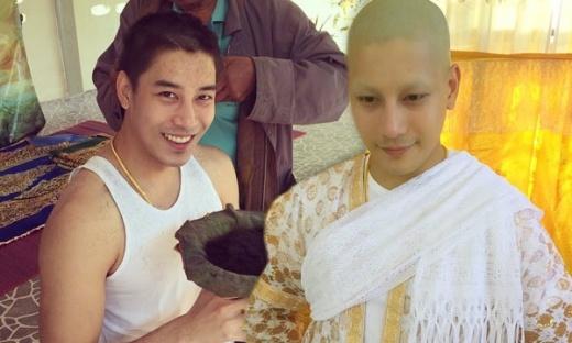 Mỹ nam Thái Lan đột ngột cạo đầu đi tu để… báo hiếu
