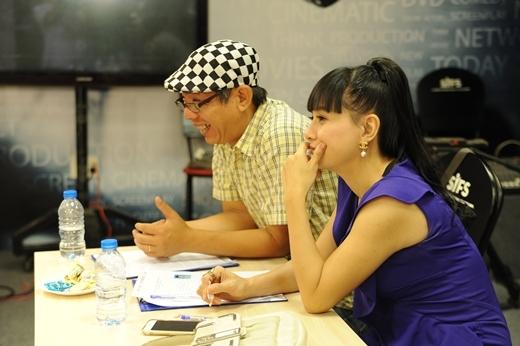 Diễn viên Cát Phượng và Trung Dân là hai cố vấn cho chương trình tại vòng casting.