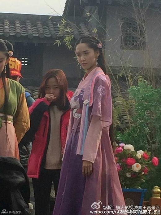 Yoona trên phim trường God of War Zhao Yun