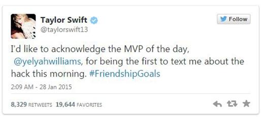 Những dòng Tweet đầu tiên đánh dấu sự trở lại của cô nàng