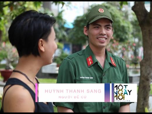 Gửi lời đề cử cho bạn gái mình đến chương trình Một ngày mới, chàng chiến sĩ trẻ Thanh Sang khá bất ngờ khi lời đề nghị của mình được thực hiện.