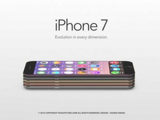Farahi thiết kế chiếc iPhone 7 với năm màu và thân máy sẽ mỏng hơn.