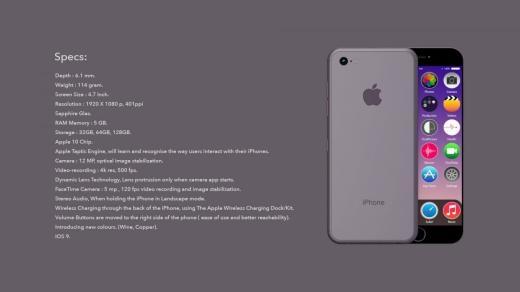 Apple có thể sẽ bổ sung màn hình sapphire, một bộ xử lí nhanh hơn và camera sẽ chỉ mở ra khi chụp.