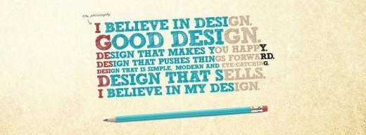 'Tôi tin tưởng vào những thiết kế đẹp.'