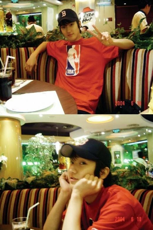 Siwon tại một nhà hàng pizza vào năm 2004