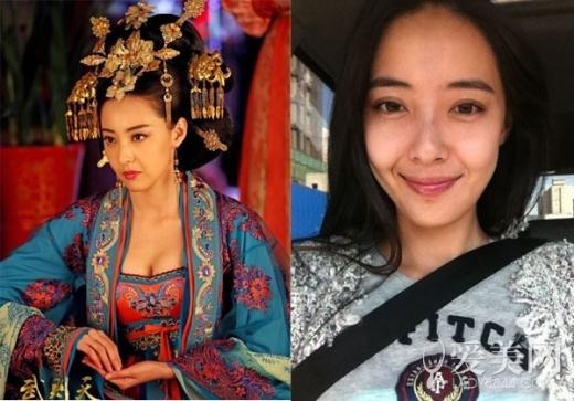 Gương mặt giữa việc trang điểm và không trang điểm khác nhau quá lớn của Cao Dương công chúa