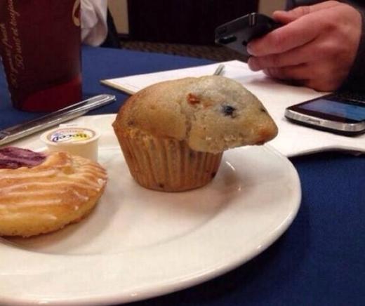 Chiếc bánh muffin nhìn giống như một chú chuột hamster