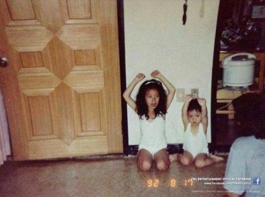 Jimin (AOA) bị mẹ phạt cùng với chị gái năm 1992