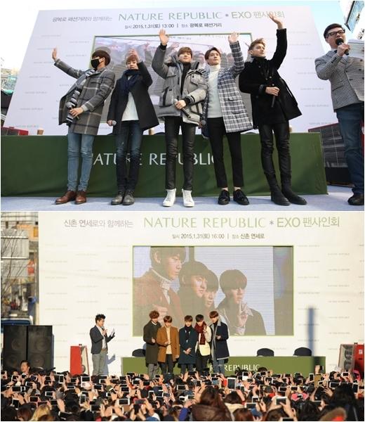 EXO chia làm hai gây náo loạn hai thành phố Busan và Seoul