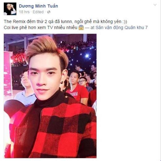 Anh chàng fashionisto Dương Minh Tuấn hào hứng với chương trình The Remix. Có vẻ như đây là chương trình đang thu hút được rất nhiều sự quan tâm của giới trẻ hiện nay.